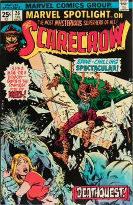 Marvel Spotlight #26, February, 1976: Scarecrow (not the Batman villain). Click for value