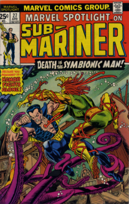 Marvel Spotlight #27, April, 1976: Sub-Mariner. Click for value