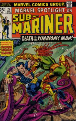 Marvel Spotlight #27, April, 1976: Sub-Mariner. Click for value