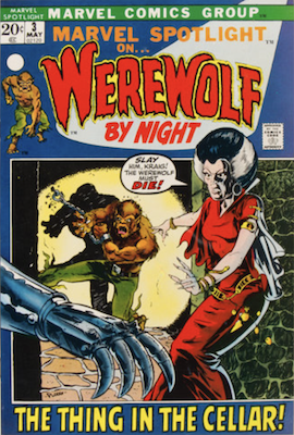 Marvel Spotlight #3, May, 1972: Werewolf By Night; Mike Ploog Cover. Click for value