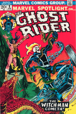 Marvel Spotlight #8, February, 1973: Ghost Rider. Click for value