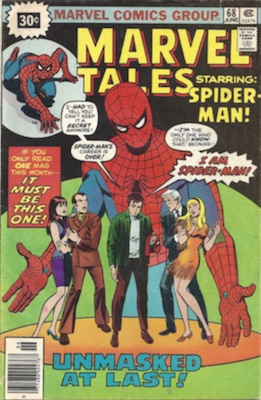 Marvel Tales #68 30c Price Variant June, 1976. Starburst Flash