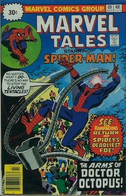 Marvel Tales #69 30 Cent Price Variant July, 1976. Starburst Flash
