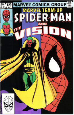Marvel Team-Up #129: Spider-Man and The Vision. Click for values.