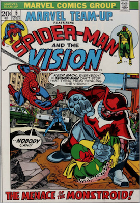 Marvel Team-Up #5: Spider-Man and The Vision. Click for values.