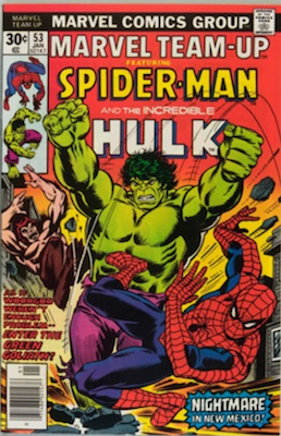 Marvel Team-Up #53: Byrne X-Men. Click for values