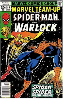 Marvel Team-Up #55; Warlock cover story. Click for values.