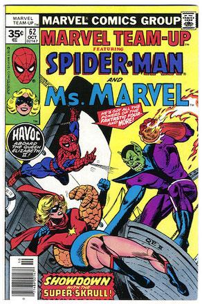 Marvel Team-Up #62 35c Price Variant