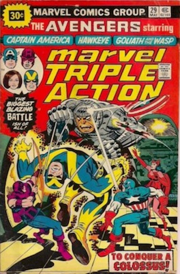 Marvel Triple Action #29 30 Cent Variant May, 1976. Price in Starburst