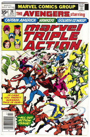 Marvel Triple Action #36 35 Cent Variant