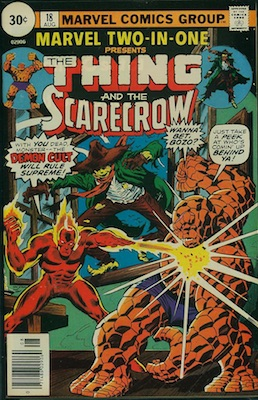 Marvel Two-In-One #18 30c Variant August, 1976. Price in Circle