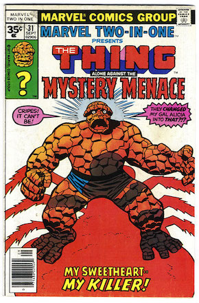 Marvel Two-in-One #31 35c Price Variant