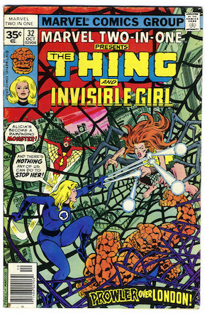 Marvel Two-In-One #32 35c Price Variant