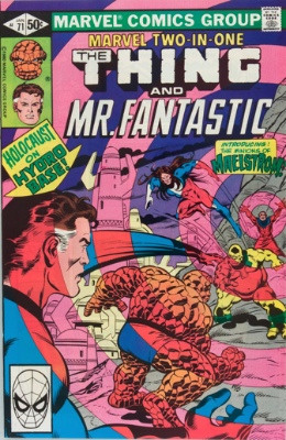Origin and First Appearance, Maelstrom, Marvel Two-in-One #71, Marvel Comics, 1981. Click for value