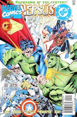 Marvel vs DC #1: Modern Fight Between Multiple Heroes. Click for values