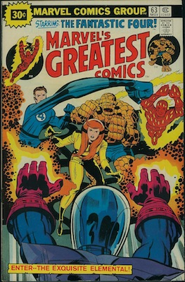 Marvel's Greatest Comics #63 30 Cent Price Variant May, 1976. Starburst Flash