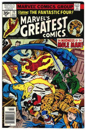 Marvel's Greatest Comics #71 Marvel 35c Price Variant