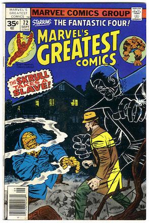 Marvel's Greatest Comics #72 Marvel 35 Cent Variant