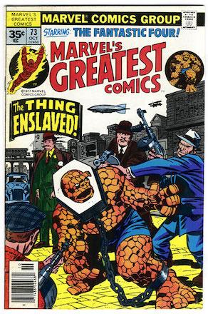 Marvel's Greatest Comics #73 Marvel 35c Variant
