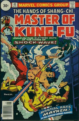 Master of Kung-Fu #43 30c Price Variant August, 1976. Price in Circle