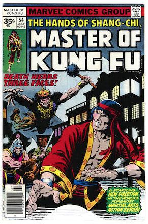 Master of Kung-Fu #54 Marvel 35 Cent Price Variants