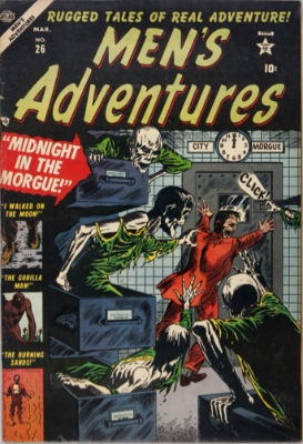 Origin and First Appearance, Gorilla-Man, Men's Adventures #26, Marvel Comics, 1954. Click for value