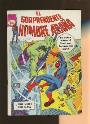 Type one are the Mexican Spider Man reprints of the original Amazing Spider-Man series with the same artwork and stories