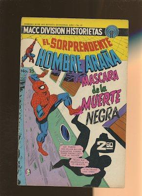 Mexican Spider Man vol 1 #25. Click for values.