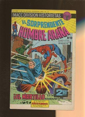Mexican Spider Man vol 2 #10. Click for values.