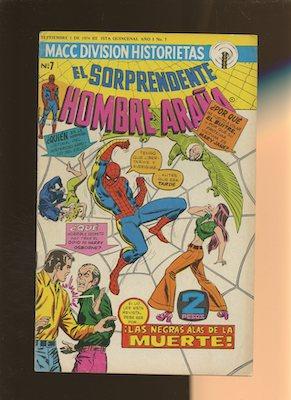 Mexican Spider Man vol 2 #7. Click for values.