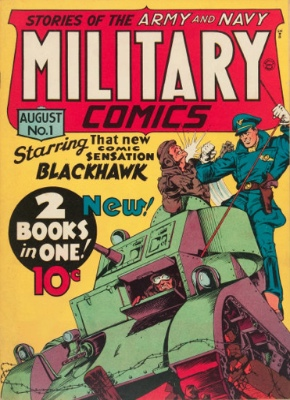 Military Comics #1: Origin and First Appearance, Miss America (Joan Dale). Click for values