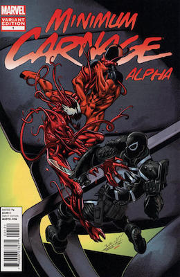 Minimum Carnage: Alpha 2nd Printing Variant. Click for values
