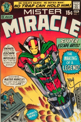 Origin and First Appearance, Mister Miracle, Mister Miracle #1, DC Comics, 1971. Click for value