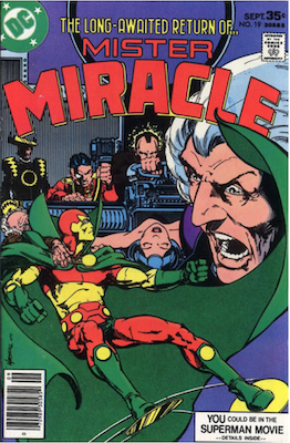 Mister Miracle #19. Click for values.