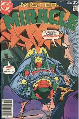 Mister Miracle #21. Click for values.