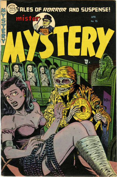 Mister Mystery #16 (1954): Mummy Bondage cover! Click for value