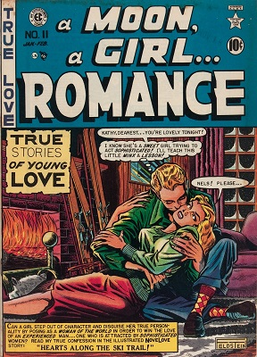 A Moon... A Girl... A Romance #9: first issue of the Moon Girl romance comics. Click for values