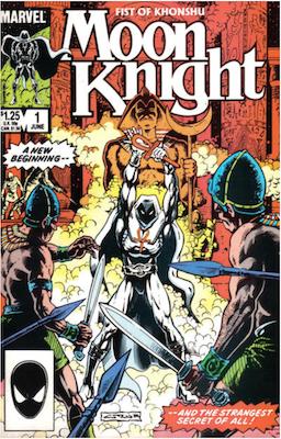 Moon Knight comic v2 #1 (1985). Click for values.