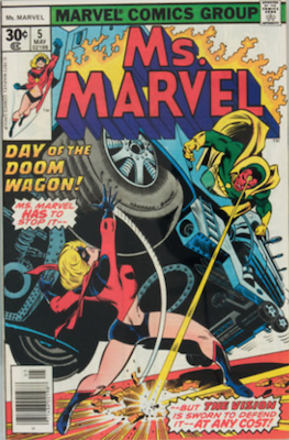 Ms. Marvel #5: Vision appearance. Click for values.