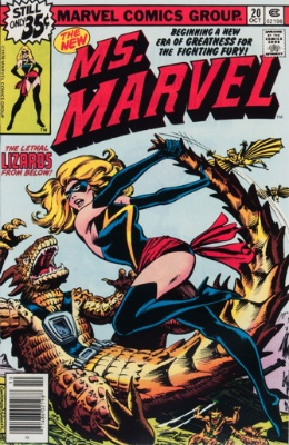 Carol Danvers (New Costume, Ms. Marvel #20, October, 1978). Click for value