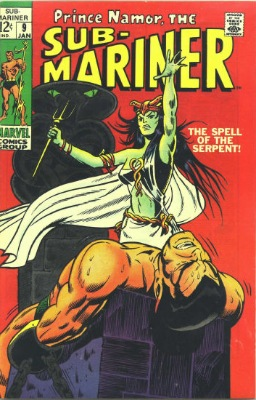 Origin and First Appearance, Naga, Sub-Mariner #9, Marvel Comics, 1969. Click for value
