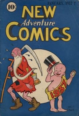 New Adventure Comics #12 (#1), 1937. Click for values