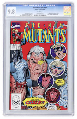 New Mutants #87 is closing the gap on #98. The 1st Cable appearance is now $600+ in CGC 9.8. Click to buy a copy