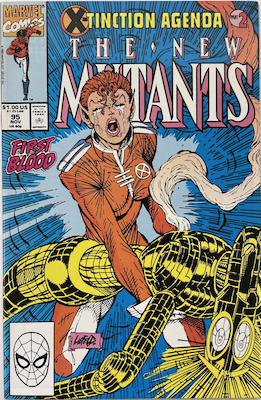 New Mutants #95; Death of New Warlock. Click for values.