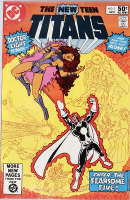 Origin and First Appearance, Fearsome Five, New Teen Titans #3, DC Comics, 1981. Click for value