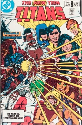 New Teen Titans #34 (September, 1983): Terra's Treachery Revealed; Kid Flash Resigns. Click for value