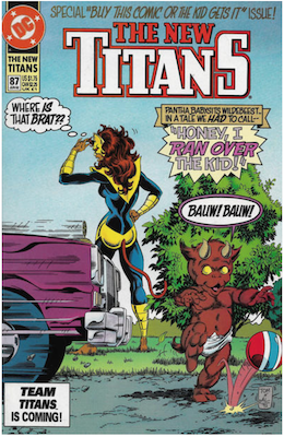 The New Teen Titans #87. Click for values.
