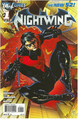 Nightwing #1 (2011). Click for values.