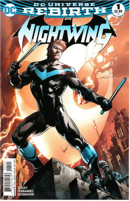 Nightwing #1 (2016) Variant cover. Click for values.