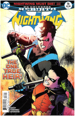 Nightwing #16 Variant cover. Click for values.
